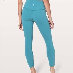 "NWT Lululemon Align 25"" 7/8 in Pacific Teal size 6"